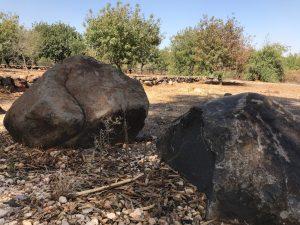 Basaltic rocks near the Jordan River