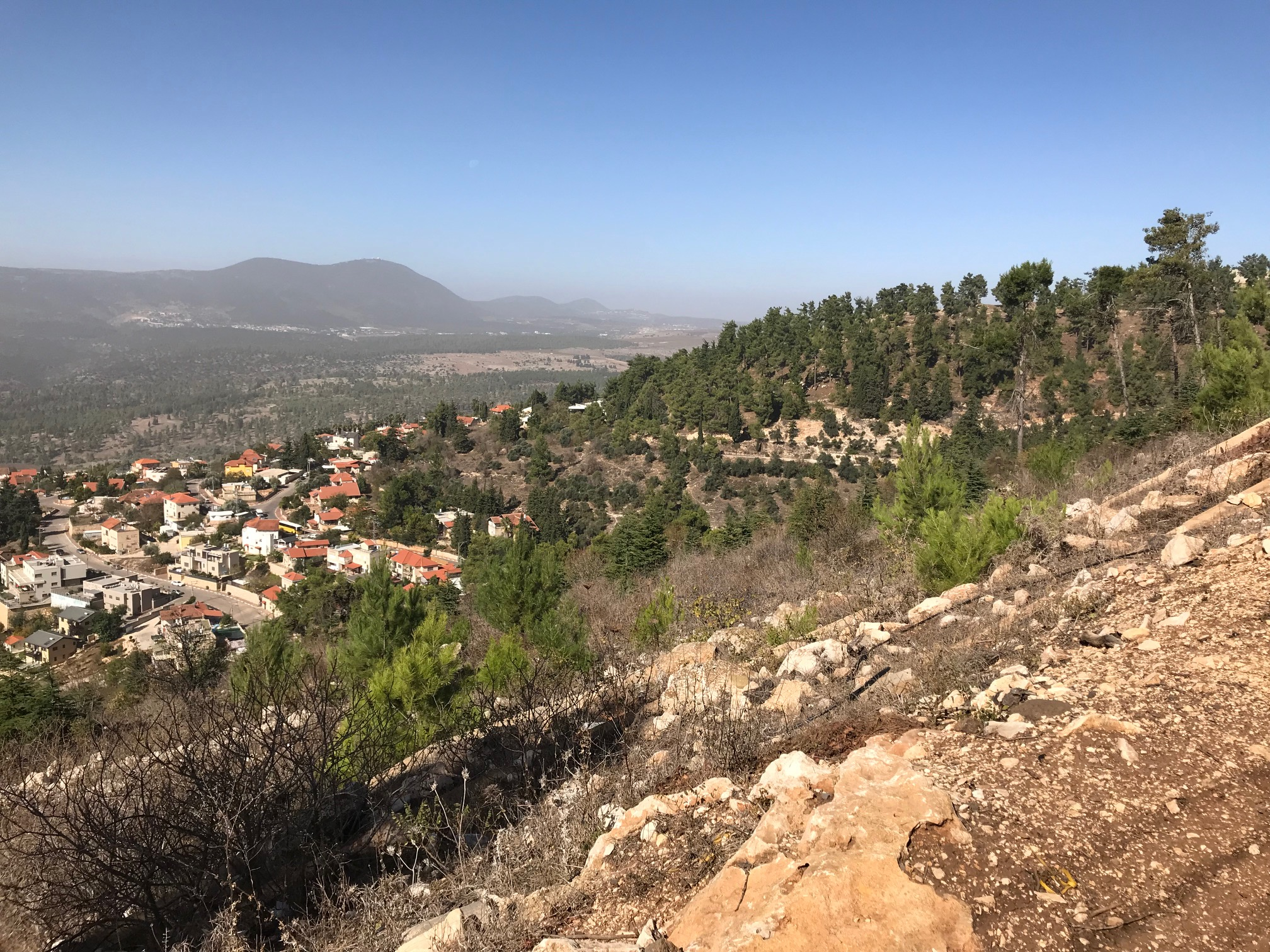 Safed, strategic viewpoint looking at the upper Galilee